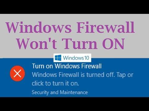 Windows Firewall won't turn on in Windows 10 (Solution: 2 Steps)