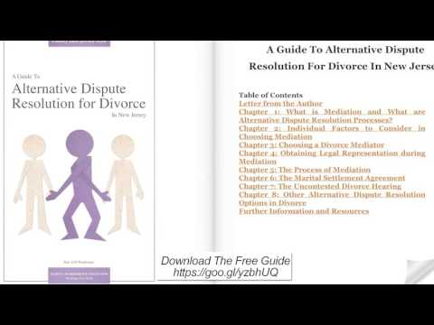 A Guide to Alternative Dispute Resolution for Divorce in New Jersey