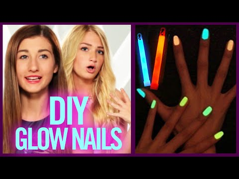 DIY GLOW STICK NAIL POLISH - Makeup Mythbusters with Maybaby and BindleBeautyx