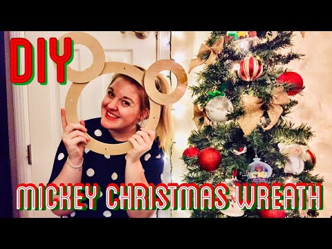 DIY Crafts: Mickey Mouse Christmas Wreath!