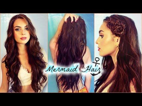 Mermaid Waves Hair Tutorial   How To Seashell Fishtail Braid! Jackie Wyers