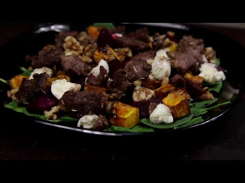 How to cook a Warm Lamb Salad with Roast Pumpkin