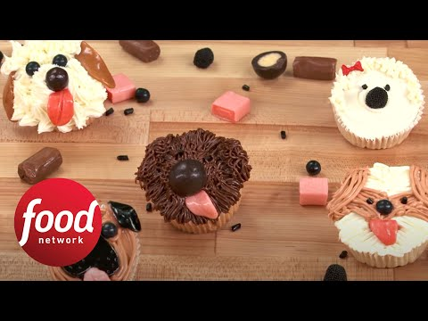 Woof! How to Make Adorable Dog Cupcakes | Food Network