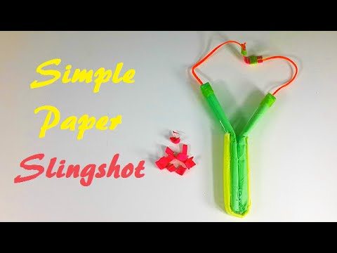 How to Make a Simple & Storng Paper Slingshot
