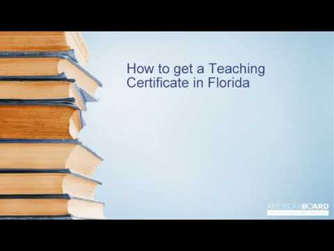 How to get a Teaching Certificate in Florida
