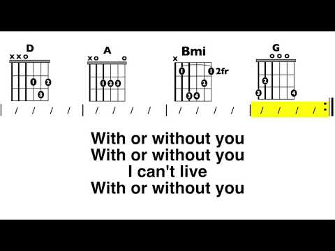 With or Without You (U2) Chord and Lyric Play-Along