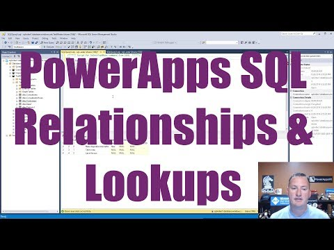 PowerApps SQL LookUps and Relationships