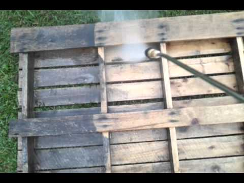 Simpson Pressure Washing pallet cleaning demo