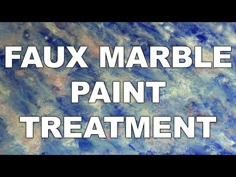 Faux Marble Paint Treatment
