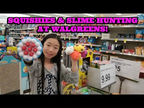 SLIME AND SQUISHIES HUNTING AT WALGREENS!  SLIME AND SQUISHIES VLOG KAWAII SQUISHIES