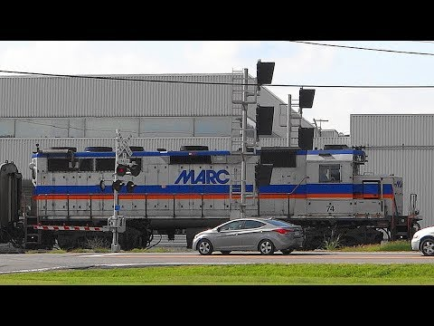 MARC Trains In Point Of Rocks, Maryland