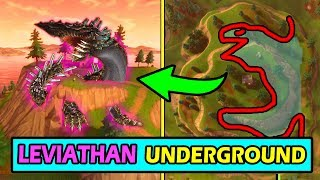 LEVIATHAN IS UNDER THE MAP! *NEW* FORTNITE STORYLINE SEASON 4 EXPLAINED (Rocket crash)