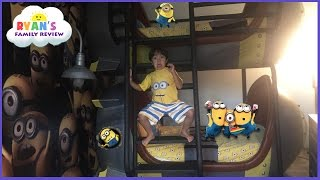 Toy Hunt at Minion Hotel Room in Universal Studio Resort  Family fun trip with Ryan