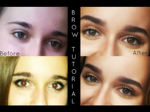 Tutorial For How to Go From Straight Eyebrows to Arched