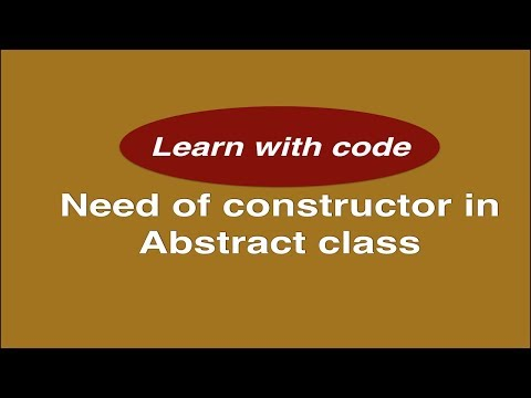 Why we need constructor inside an abstract class ? || Popular  Java interview question