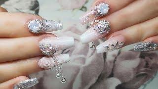 Encapsulated Shell Ballerina Nail - Wedding Nails Part 5