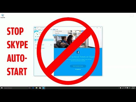 How to disable skype start up with window