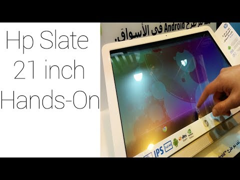 The largest Android Tablet .HP Slate 21 inch Hands-On (2014)