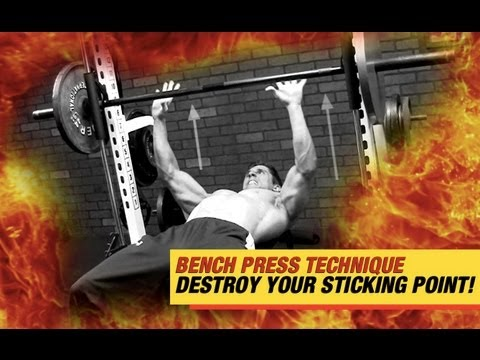 Bench Press Tip - STICKING POINT Eliminator!!