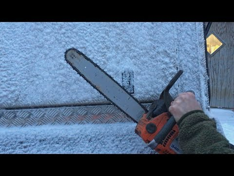 How To Thaw The Lock Of Your Pick-Up Truck With A Chainsaw