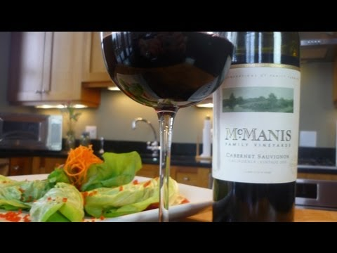 Asian Lettuce Beef Wraps paired with McManis Cabernet Sauvignon