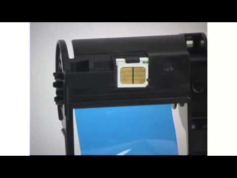 How to load ribbons in Nisca PRC 101 card printer