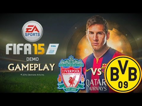 Fifa 15 Demo Gameplay PS4 | Liverpool Vs Borussia Dortmund