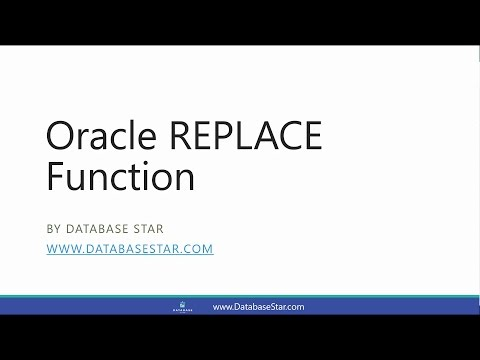 Oracle REPLACE Function