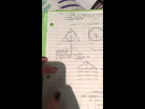 how to derive the area of a polygon circumscribed around a circle