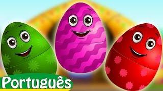 Ovos Surpresa com Brinquedos de Canções de Ninar   SEU MACDONALD   ChuChu TV Animais de fazenda