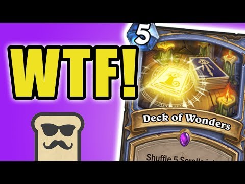 DECK OF WONDERS IS INSANE!   KOBOLDS AND CATACOMBS   HEARTHSTONE   DISGUISED TOAST