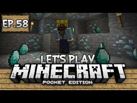 Survival Let's Play Ep. 58 - DID SOMEONE SAY, DIAMONDS!?!? - Minecraft PE (Pocket Edition)