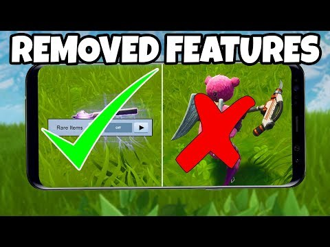7 Things REMOVED in Fortnite MOBILE