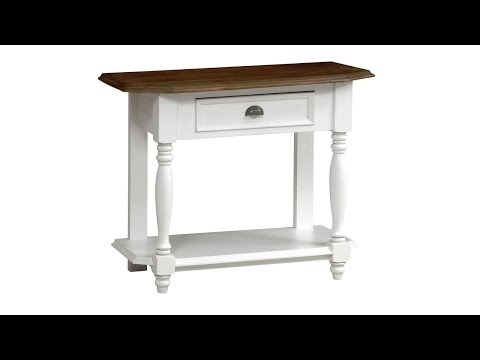 Bergere Distressed Painted Telephone Table - PineSolutions