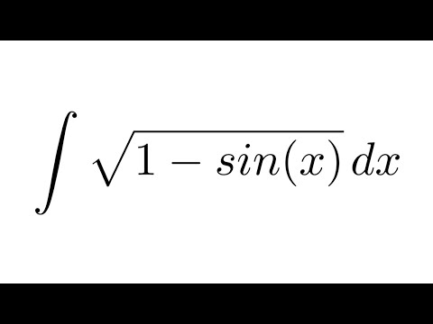 (Method 1) Integral of sqrt(1- sin(x)) (substitution + trigonometric identities)