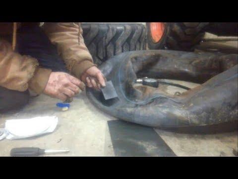 tractor tire tube repair diy
