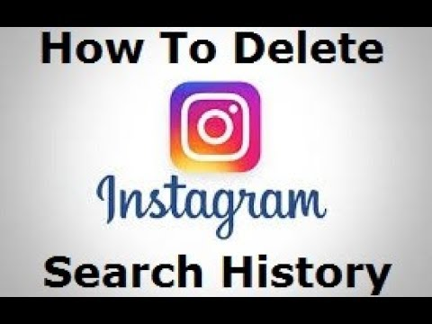 How To Delete/Clear Instagram Search History