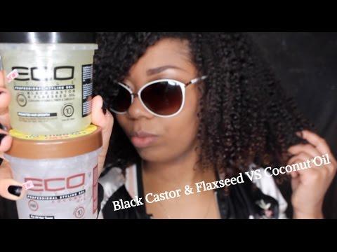 Eco Styler| Black Castor Flaxseed Oil Gel VS Coconut Oil Gel