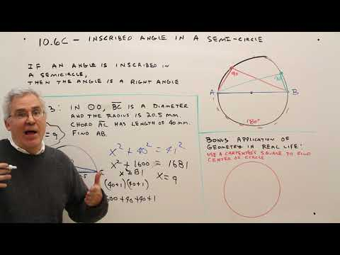 10.6C--Inscribed Angle in a Semicircle