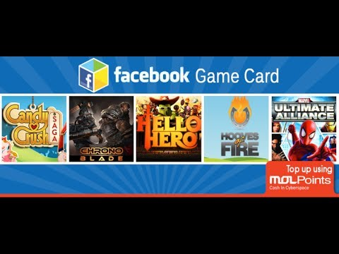 How to use MOLPoints in Paying for Facebook Games - Facebook Game Card
