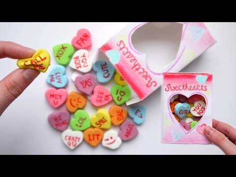 How to Make SQUISHY Conversation Candy Hearts + Packaging! DIY Homemade Squishy Tutorial