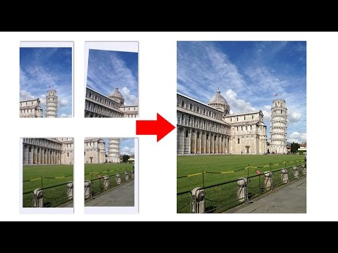 Merge Multi Scanned Images into one file in Photoshop CC 2017