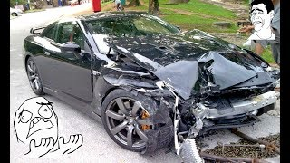 Stupid  Nissan Skyline GTR Crash Compilation 2017- Street Racing and Ricers Fails Part.2