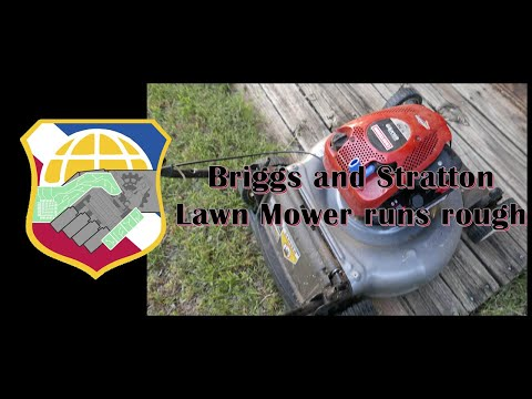 Lawn Mower runs rough - Briggs and Stratton 10T800 - Craftsman Silver Poulan 300 450 475 500 550 4k