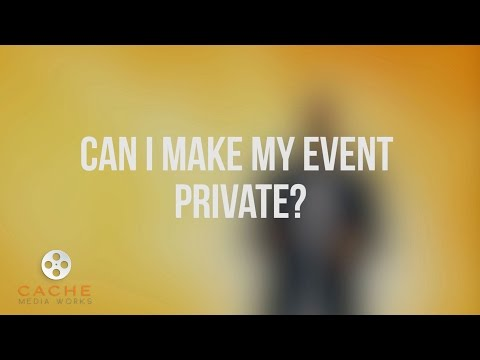 Can I make my event and live stream private?