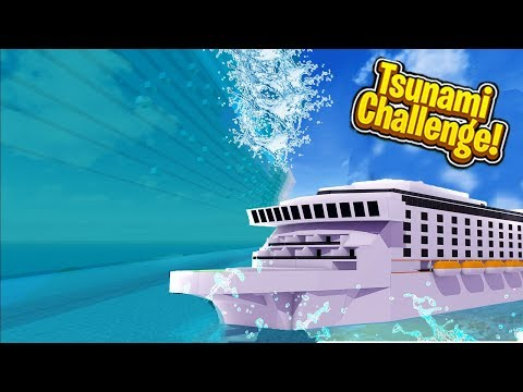 GIANT TSUNAMI VS MINECRAFT SHIPS! Tsunami Challenge Mod