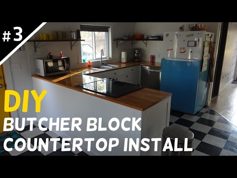 Install Your Own Butcher Block Countertops - Part 3 of 5