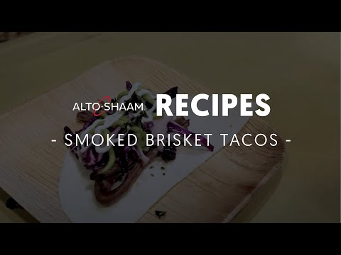 Smoked brisket tacos made in Alto-Shaam cook & hold smoker and combi ovens