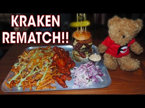 KRAKEN Burger Challenge REMATCH in BRISTOL!!