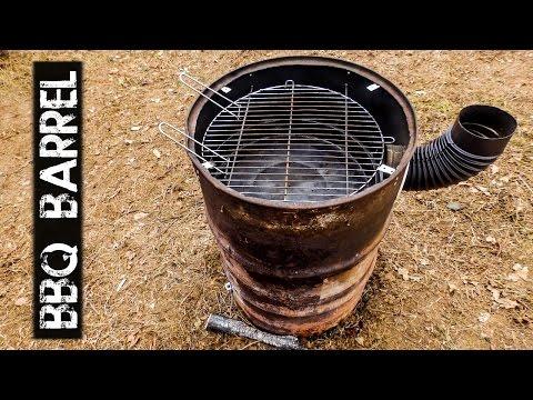 DIY BBQ Barrel - First Test
